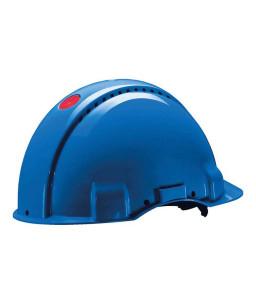 3M™ Κράνος Ασφαλείας, Uvicator, Κούμπωμα με Κοχλία, Αεριζόμενο, Πλαστική Αντιιδρωτική Ζώνη, Μπλε, G3000NUV-BB