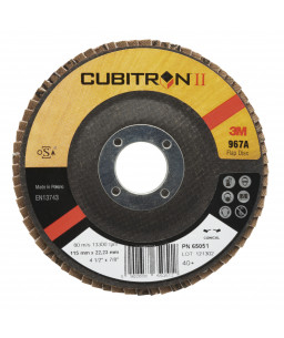 3M™ Cubitron™ II Δίσκος Λείανσης Flap Υπο Γωνία 967A 115 x 22,23mm