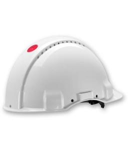 3M™ Κράνος Ασφαλείας Uvicator Κούμπωμα Κοχλία Αεριζόμενο Λευκο G3000NUV-VI