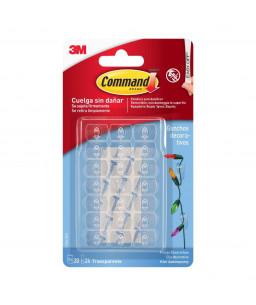3M™ Command™ Διάφανα Διακοσμητικά Κλιπ με Διαφανείς Ταινίες 17026CLR