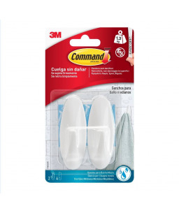 3M™ Command™ Γαντζάκια Μπάνιου Designer Μεσαία Αδιαβροχα W17081