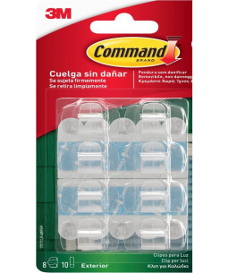 Command™ Outdoor Clip Strips Clear 17017AW