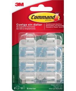 3M™ Command™ Κλιπ για Φωτάκια για Εξωτερικούς Χώρους 17017CLR-AW