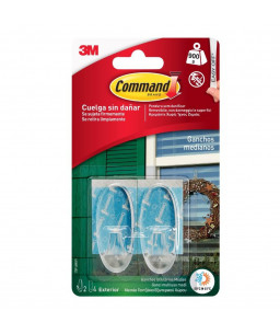 Command™ Outdoor Hooks Clear 17091AW
