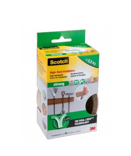 SCOTCH 3M DUAL LOCK STRONG, CLEAR, 25mm x 1,2M