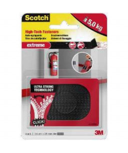 SCOTCH 3M DUAL LOCK EXTREME, BLACK, 25mm x 75mm
