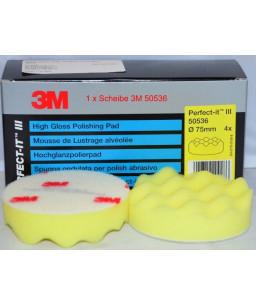 3M™ Perfect-It™ Ανάγλυφο Σφουγγάρι Γυαλίσματος Κίτρινο 75mm 50536