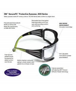 3M™ SecureFit™ Αφρώδες ένθετο για Γυαλιά Προστασίας SF400