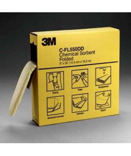 3M™ Πολυμορφικά Φύλλα Απορρόφησης Χημικών C-FL550DD/P-F2001 120 mm x 15.2 m