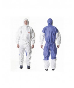 3M™ Protective Coverall 4535 Type 5/6 White/Blue