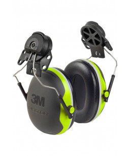 3M™ PELTOR™ Earmuffs Hard Hat Attached X4P3E Hi-Viz 33dB