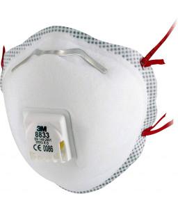 3M™ Μάσκα Σωματιδίων Μίας Χρήσης Με Βαλβίδα 8833 FFP3