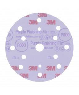 3M™ Purple Finishing Abrasive Film Disc Hookit™ 260L++ 150mm 17 Holes