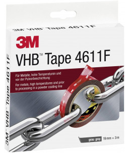 3M™ VHB™ ΑΚΡΥΛΙΚΗ ΤΑΙΝΙΑ ΔΙΠΛΗΣ ΟΨΗΣ 19mm x 3M 4611F
