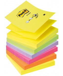 Post-it® Z-Notes, R330-NR Neon Rainbow , 6 BLOCK PACK, 76 mm x 76 mm