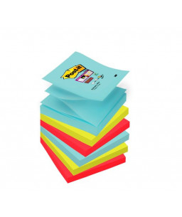 Post-it® Super Sticky Z-notes, 654-6SS-MIAMI, 6 BLOCK PACK, 76 mm x 76 mm