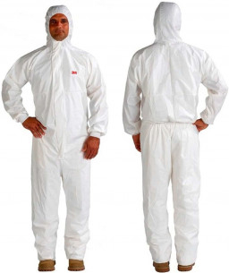 3M™ Ολόσωμη Φόρμα Εργασίας 4545 Τύπου 5/6 Λευκη