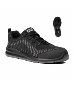 9MIL110  MILERITE SAFETY SHOES LOW BLACK AND GREY S1P SRC
