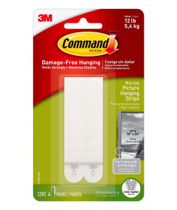 Command™ Narrow Picture Hanging Strips 17207